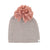 Mauve Yarn Pom Hat by Oh Baby!