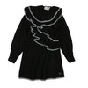 Black Knit Tricot Dress by Alberta Ferretti