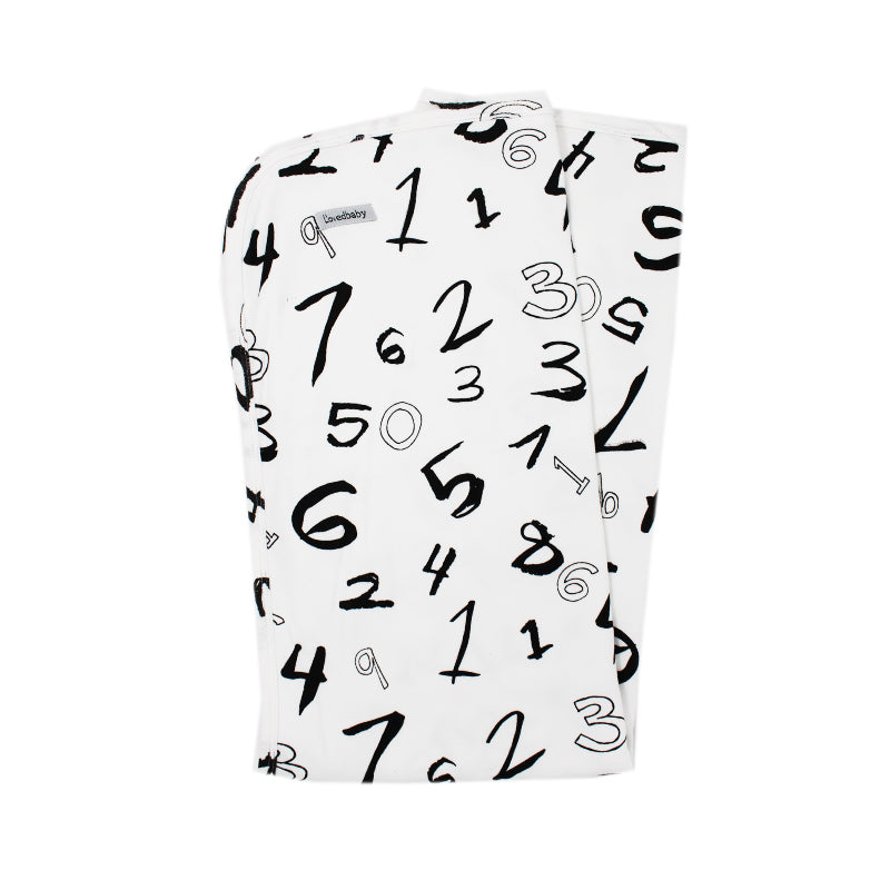 Numbers Organic Swaddling Blanket by L'ovedbaby