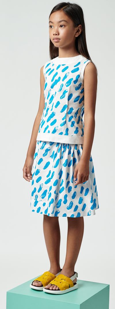 Blue Strokes Sleeveless Top by Marni