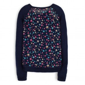 Eve Blue Knit Sweater by TroiZenfants