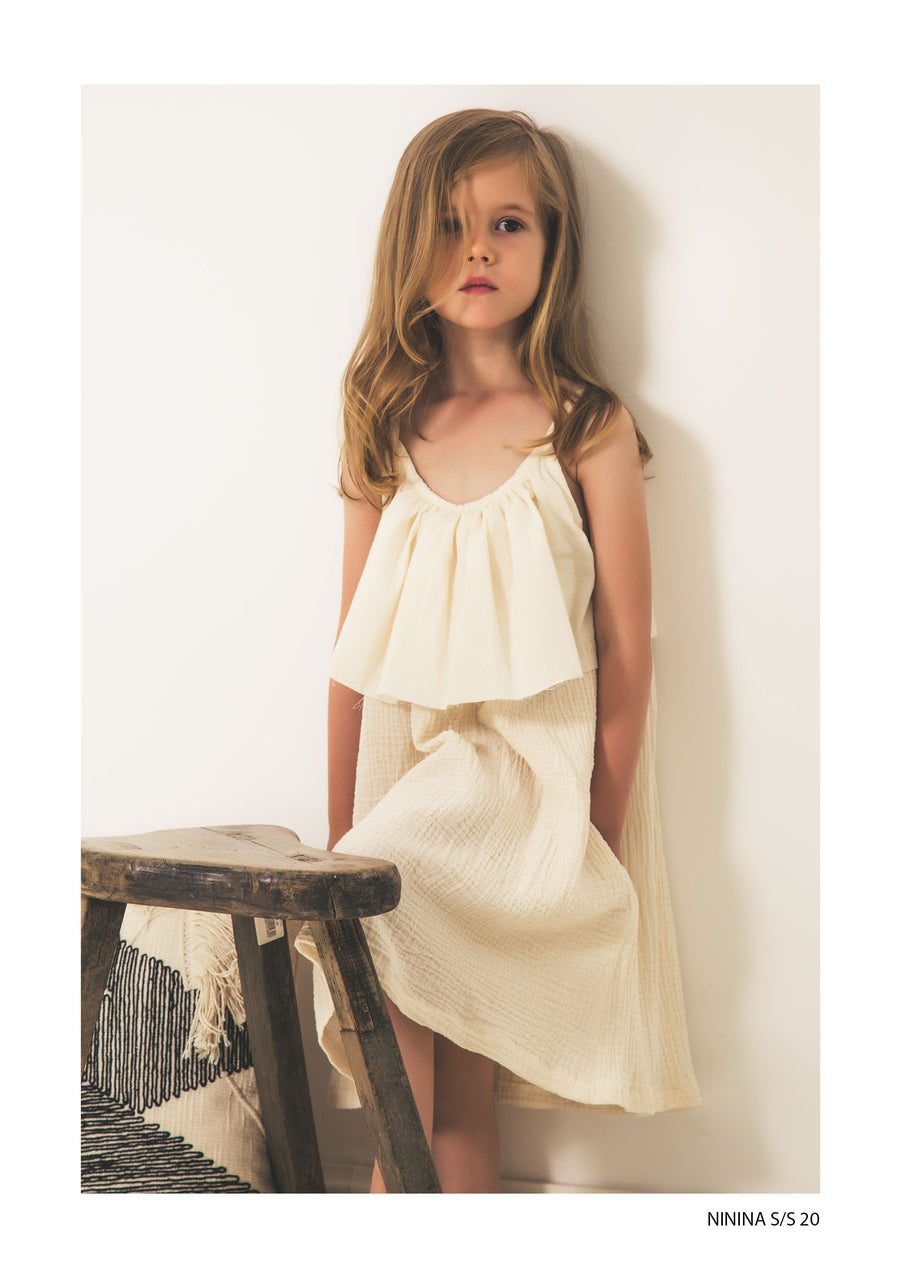 Nude Midi Dress by Ninina