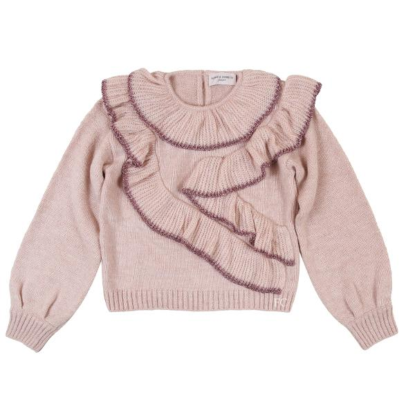 Pink Metalic Trim Sweater by Alberta Ferretti