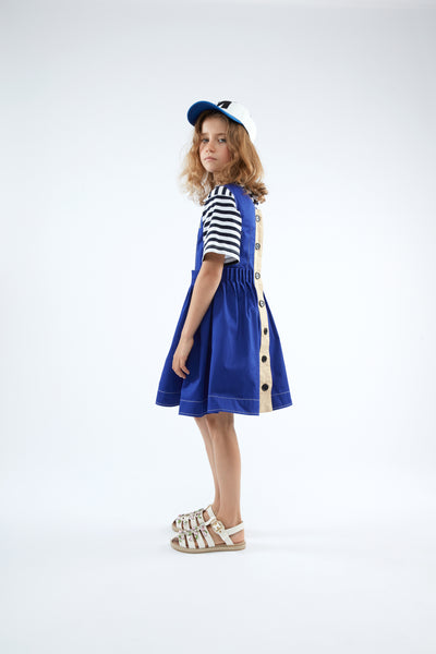 Cobalt Button Dress by Marni