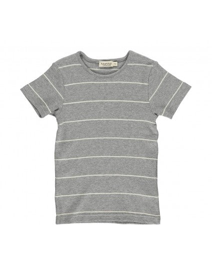 Short Sleeve Off White Stripe T-shirt by MarMar