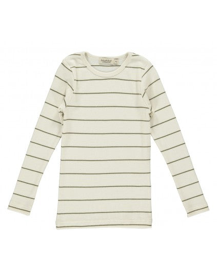 Long Sleeve Olive Long Sleeve Stripe T-shirt by MarMar