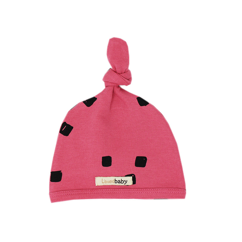 Berry Organic Top Knot Hat by L'ovedbaby
