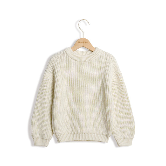 Ivory Knit Sweater by Roe & Joe