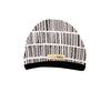 White Barcode Cute Cap by L'ovedbaby - Flying Colors Baby