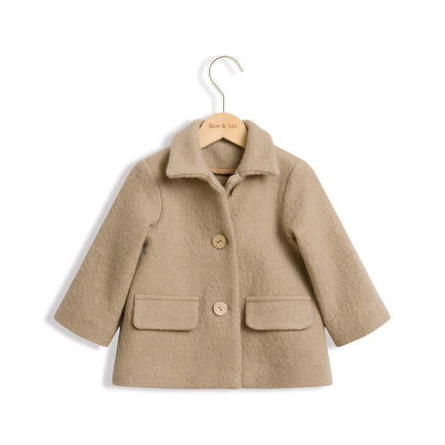 Light Camel Wool Coat by Roe & Joe