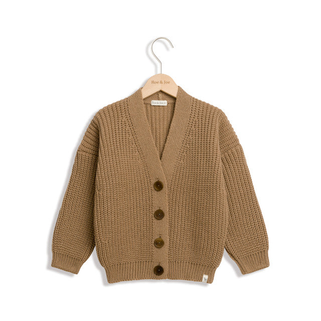 Caramel Wool Cashmere Cardigan by Roe & Joe