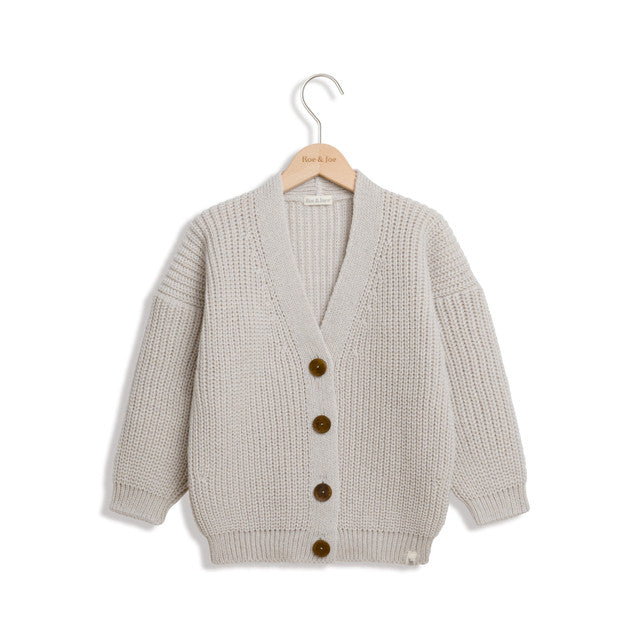 Sand Wool Cashmere Cardigan by Roe & Joe