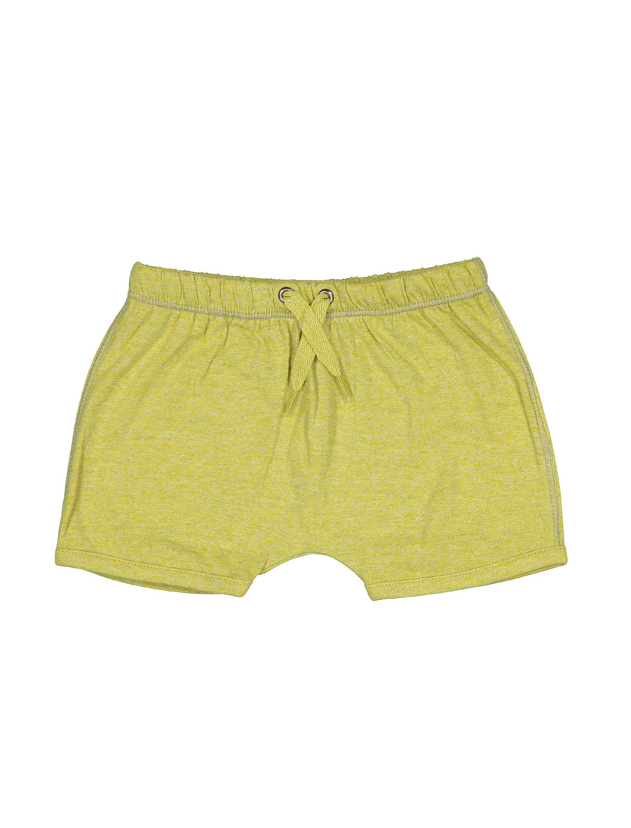 Yellow Matt Organic Shorts By Kidscase