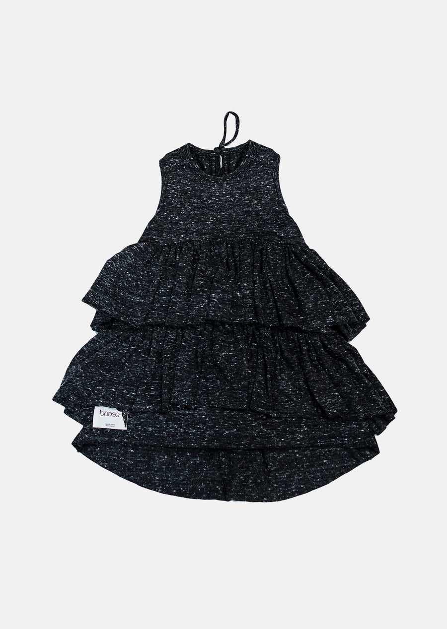 Black Marl Wave Dress by Booso