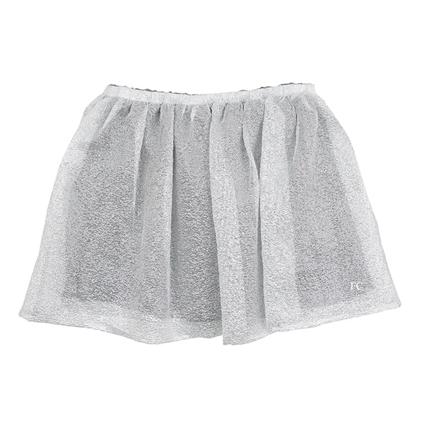 Silver Woven Skirt by Dou Dou