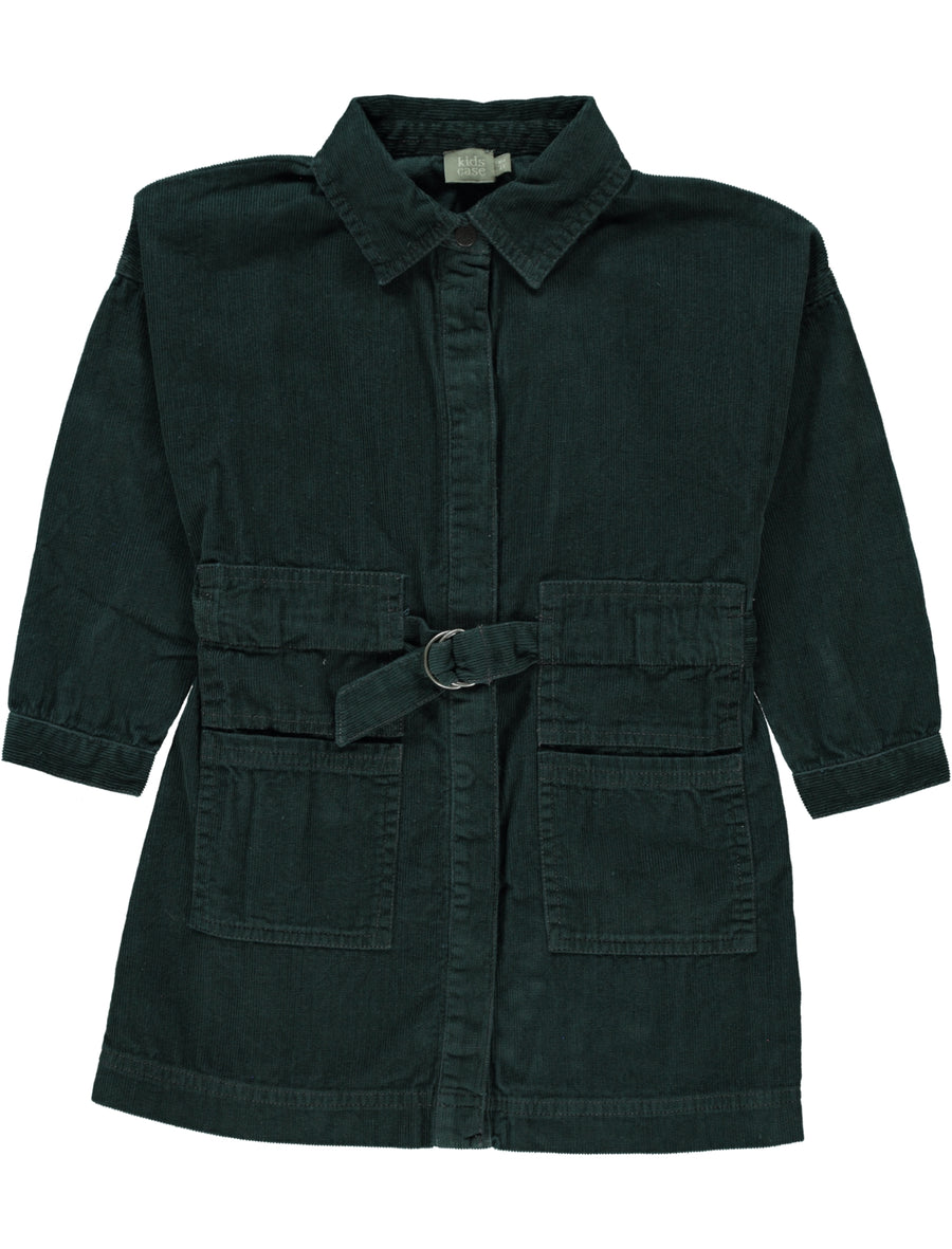 Amos Dark Green Dress by Kidscase