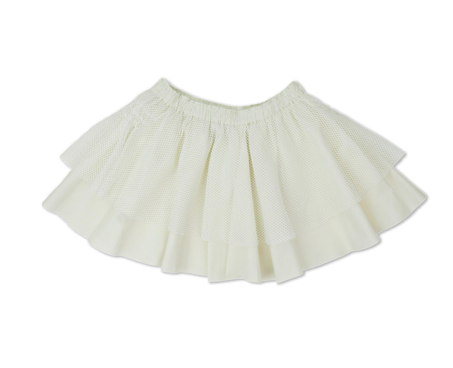 Off White Etta Skirt by Miss L Ray