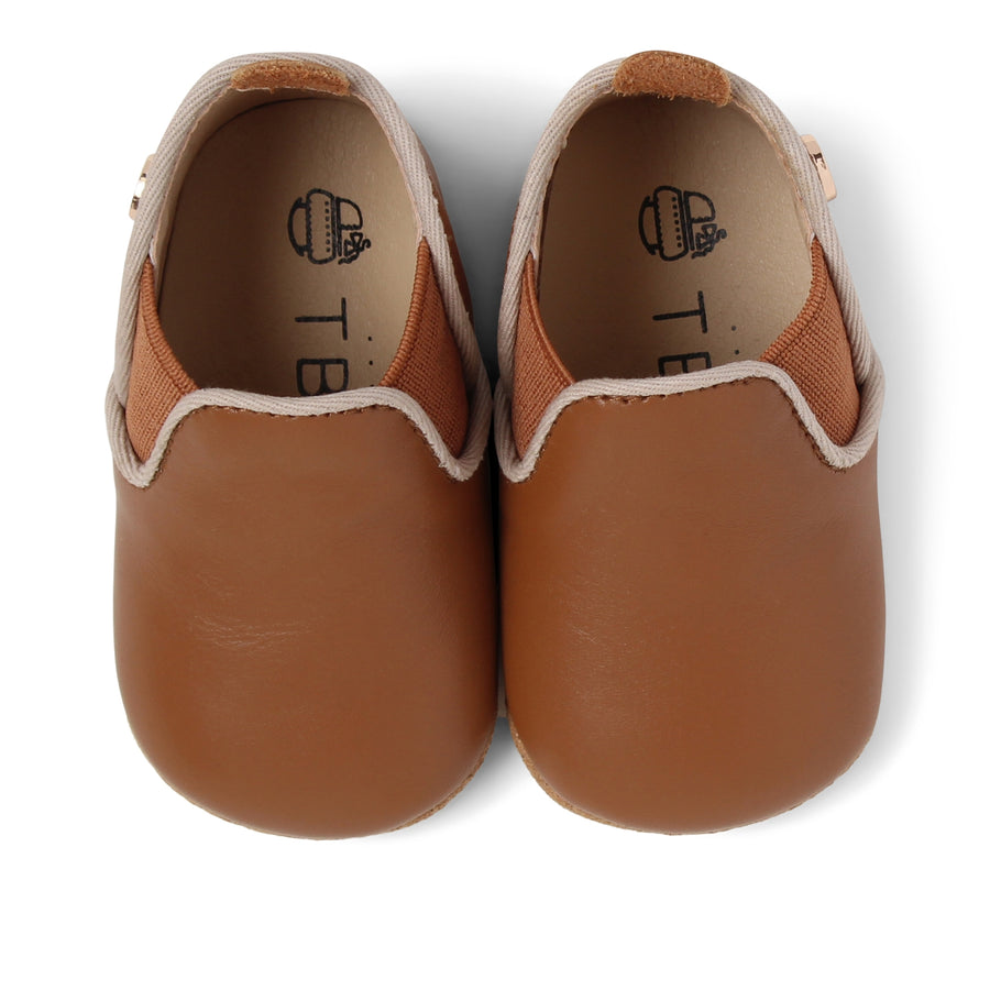 TBGB Brown Leather Baby Moccasin