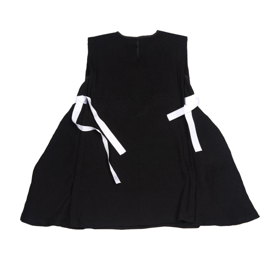 Black Crepe Belted Dress by ACBC