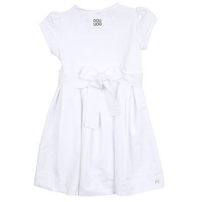 White Fleece Dress by Dou Dou