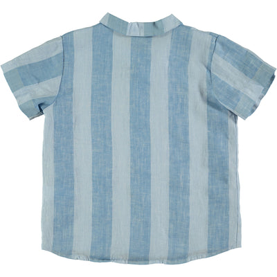 Linen Wide Stripe Shirt by Bonmot