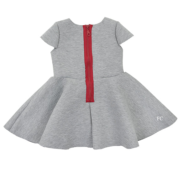 Grey Flair Dress by Two in a Castle