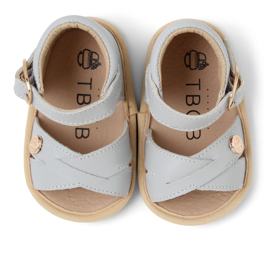 TBGB Grey Leather Baby Sandal