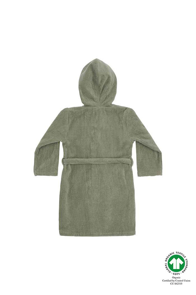 Oil Green Terry Robe by Soft Gallery