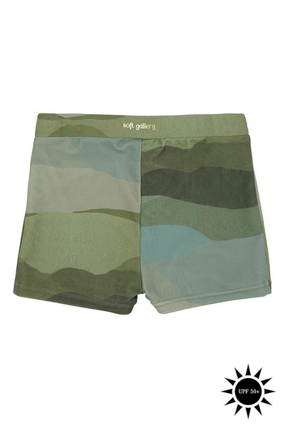 Don Landscape Swim Shorts by Soft Gallery