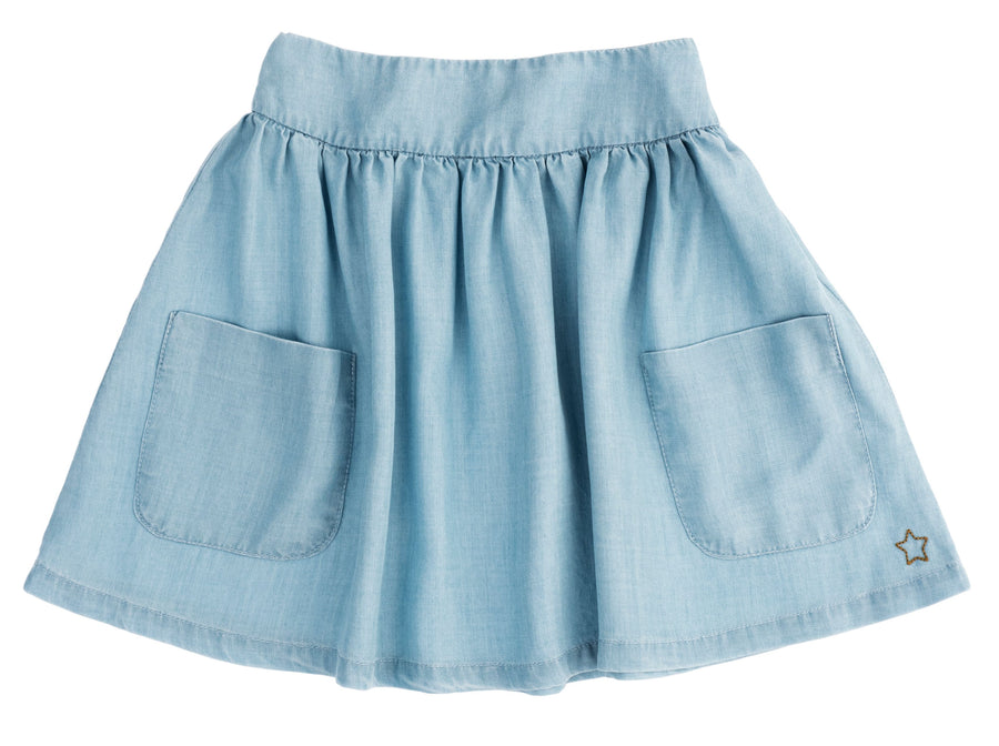 Blue Tencel Skirt by Tocoto Vintage