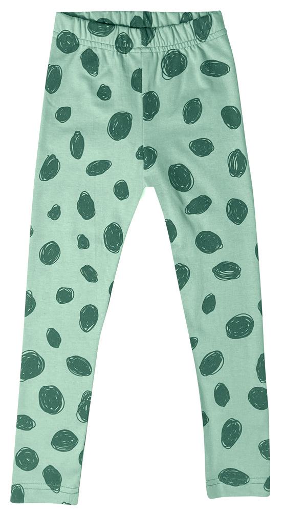 Mint Splatter Irbis Leggings by Mukki Kids
