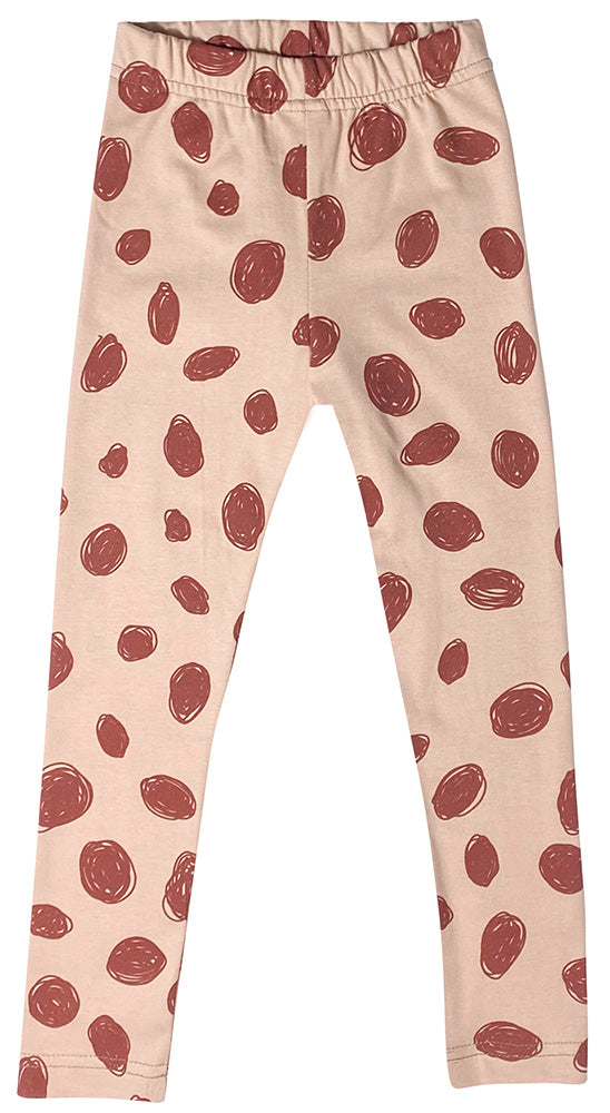 Pink Splatter Irbis Leggings by Mukki Kids