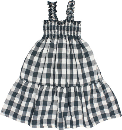 Blue Agnes Gingham USA Dress by Buho
