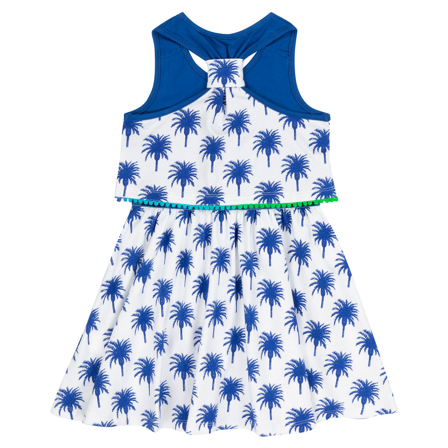 Palm Tree Printed Jersey Dress by Deux par Deux