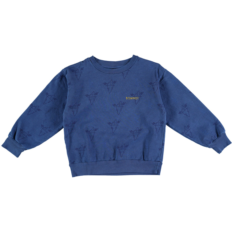 Blue Icebergs Sweatshirt by Bonmot