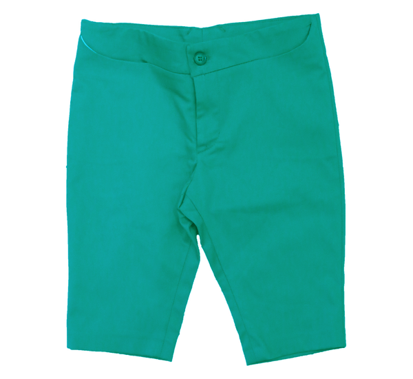 Bold Green Cotton Sateen Bermudas by Nove