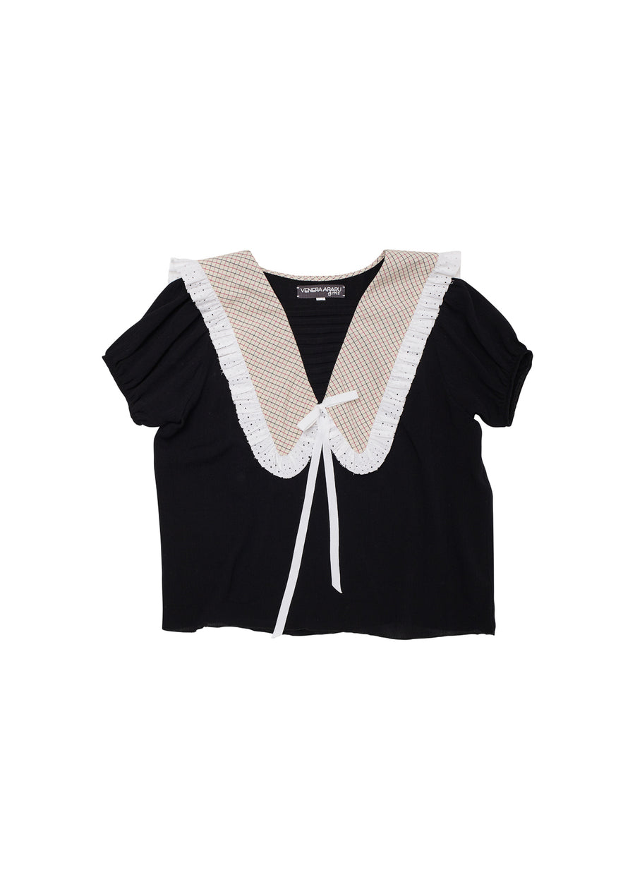 Swan Collar Top by Venera Arapu