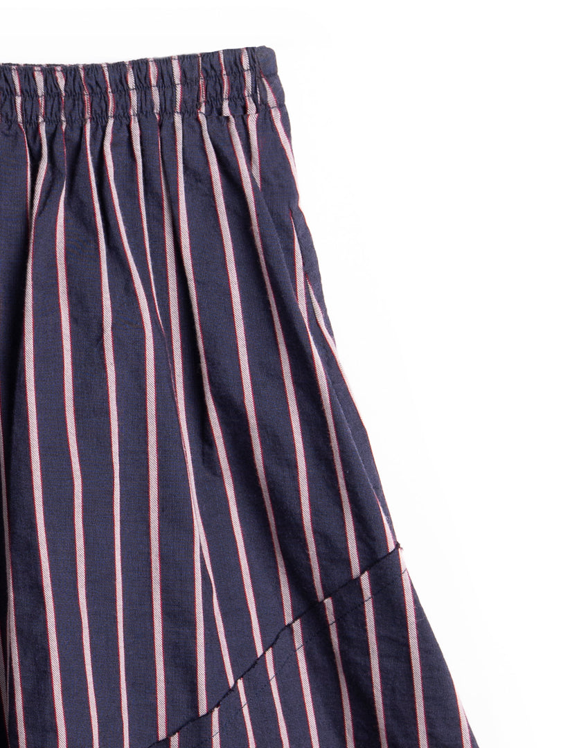 Striped Blue Skirt By Barn Of Monkeys
