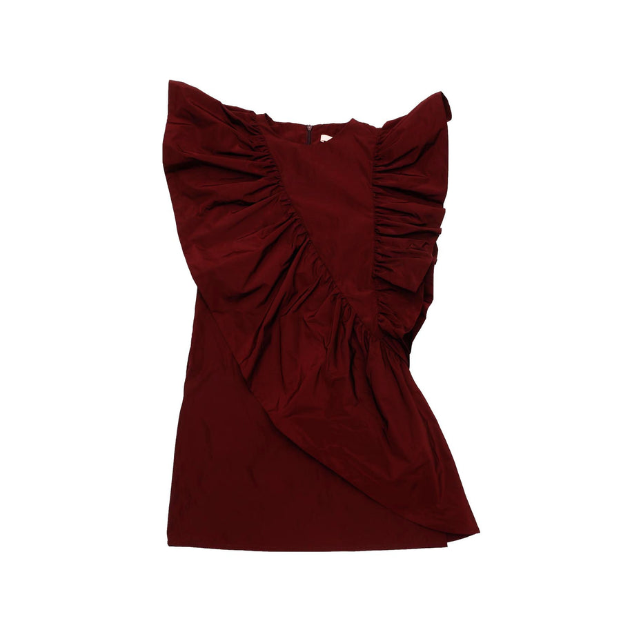 Burgundy Flavor Dress by Mummymoon