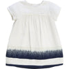 Chloe Baby Girl Blue Trim Silk Dress