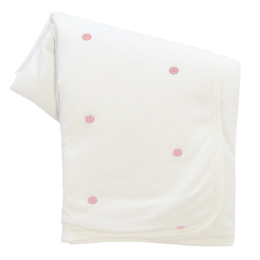 Pink Metallic Dot Blanket by Kipp