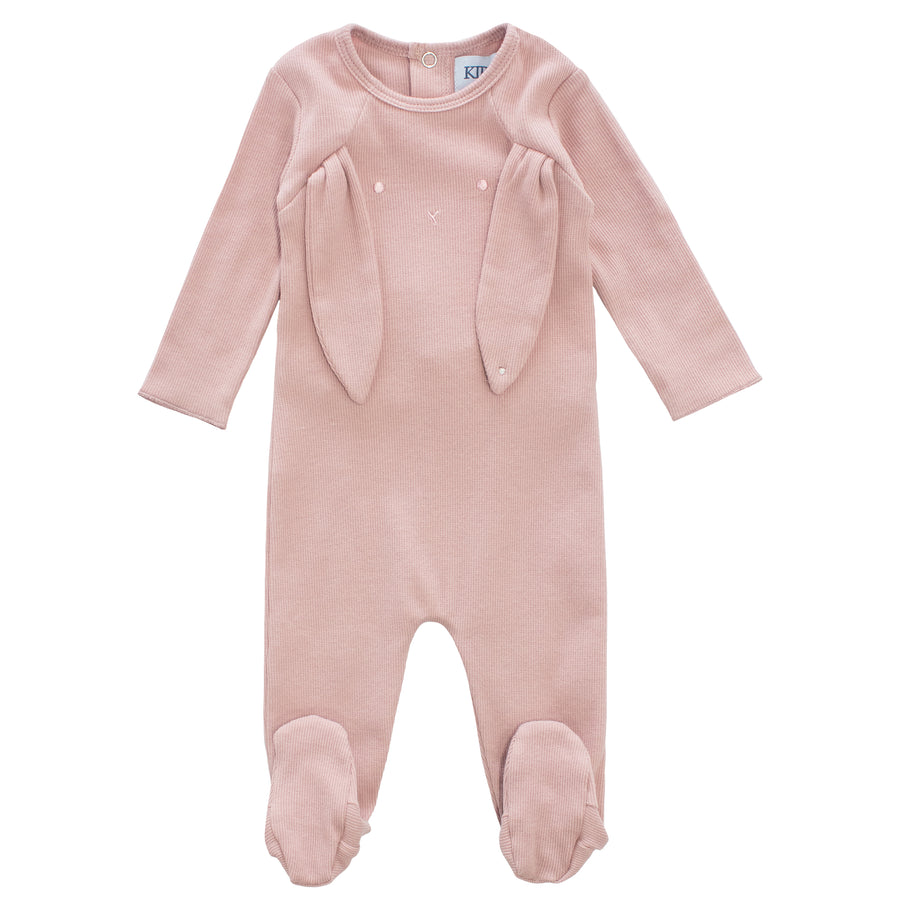 Pink Bunny Romper & Hat Set by Kipp