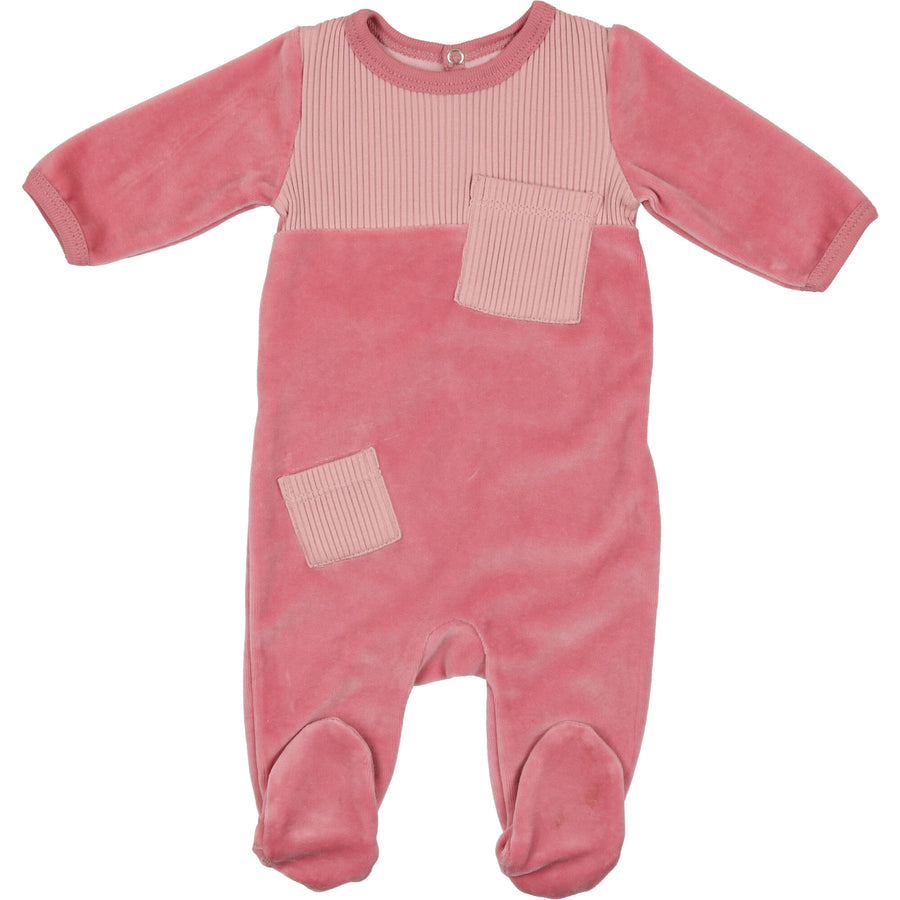 Dusty Rose Cozy Cuddles Footie by Mon Tresor