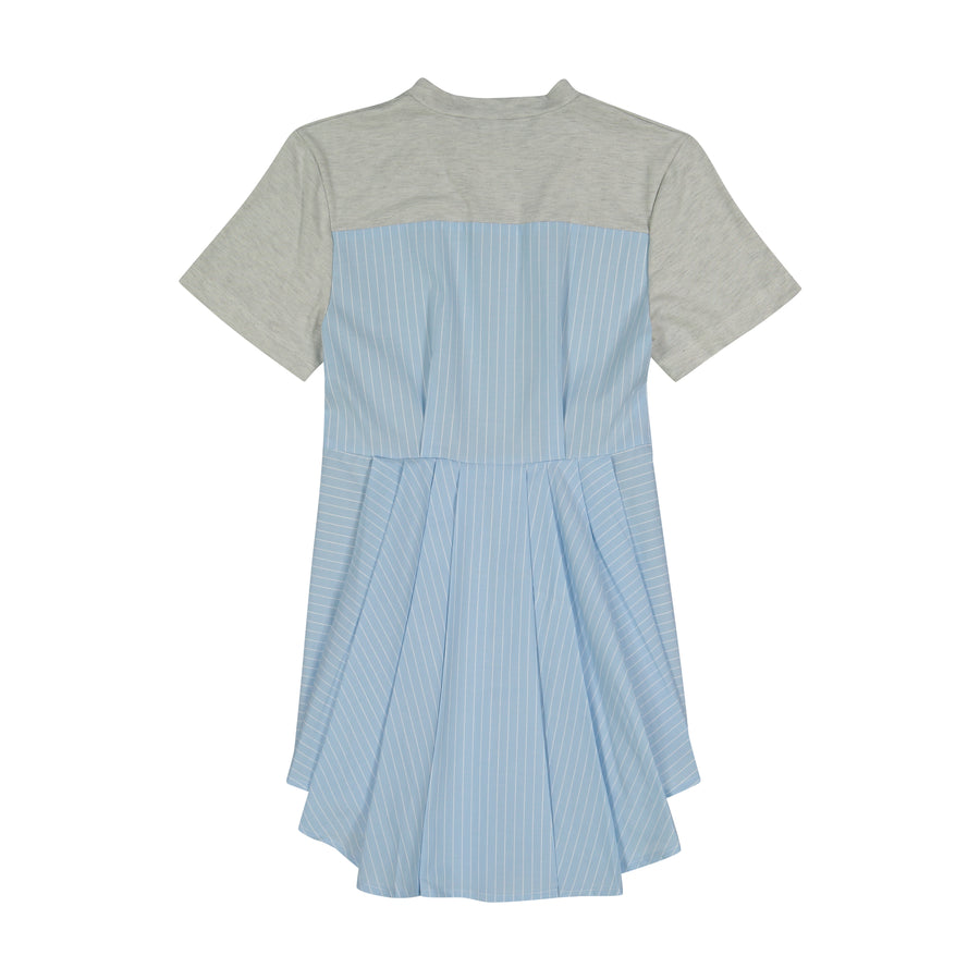 Blue Stripe Sabina Dress By Vierra Rose