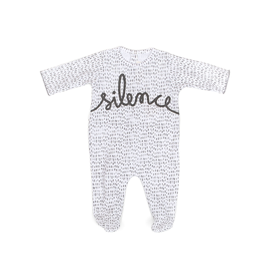 Silence Neoniron Footie by Message in the Bottle