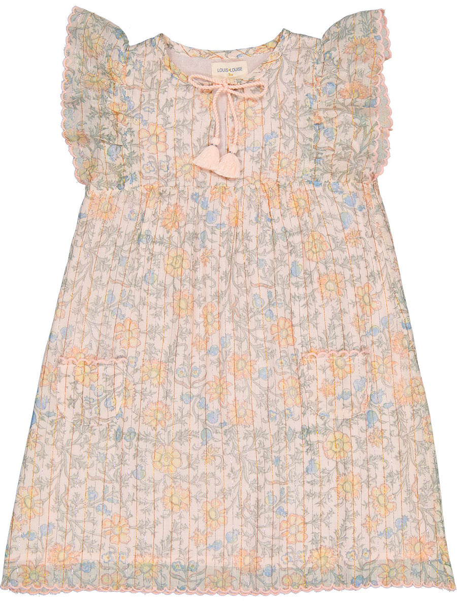 Anne Indian Flower Lurex Dress by Louis Louise