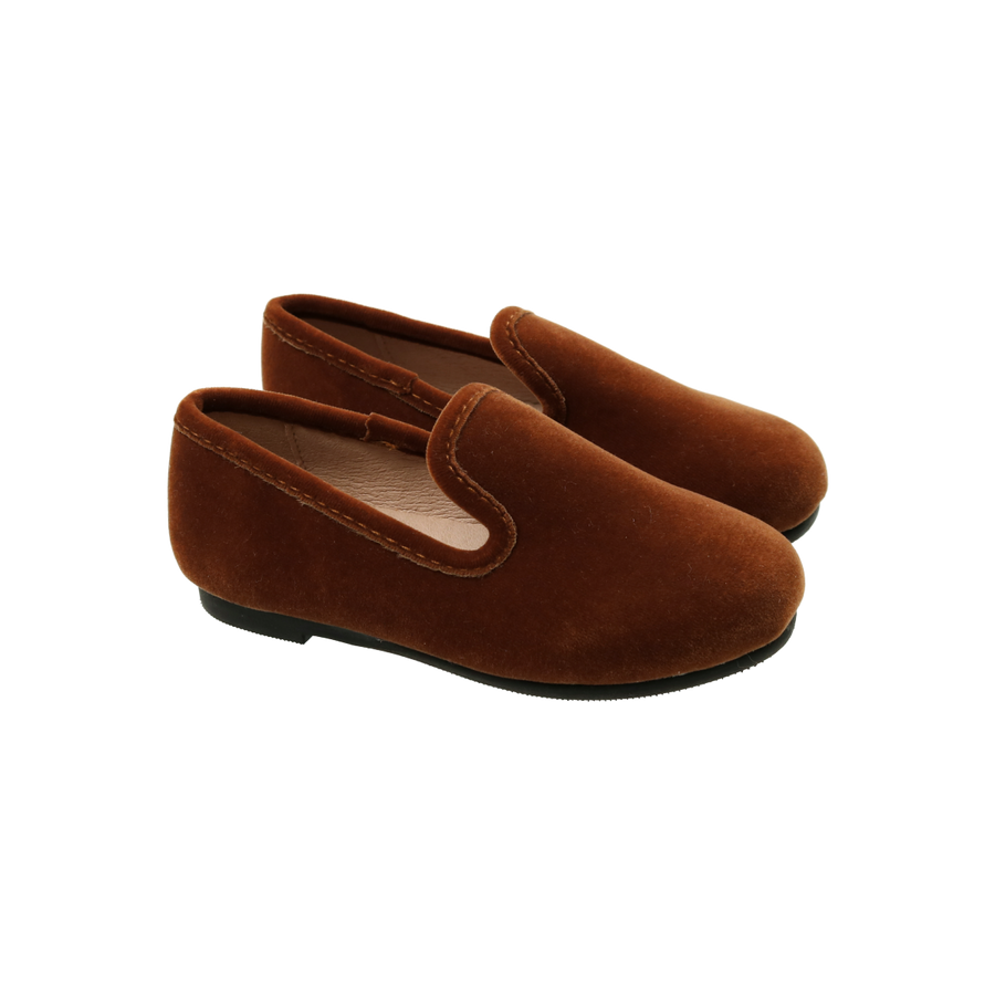 English Tea Velvet Loafers by Zeebra