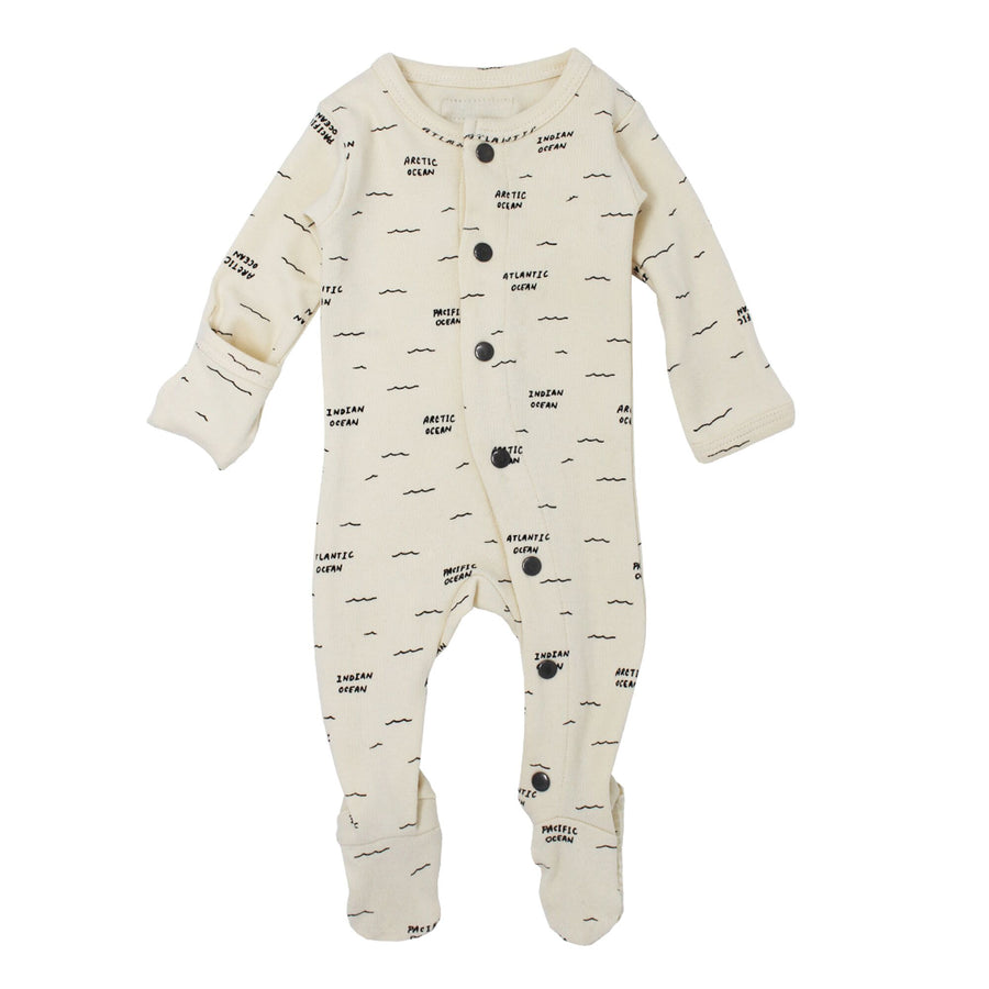 Beige Seas Footie by L'ovedbaby