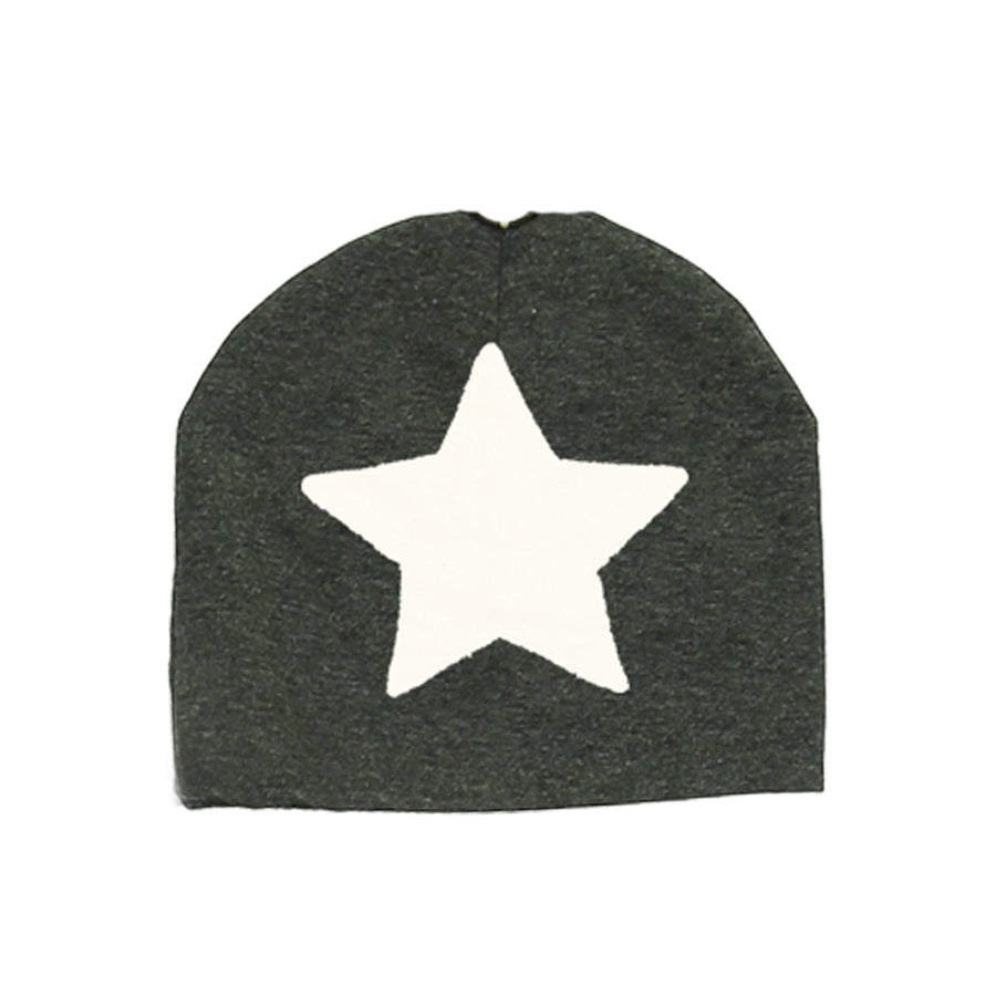 Charcoal Fur Patch Beanie by Maniere