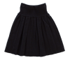 Black Knit Pleat Skirt by Kipp